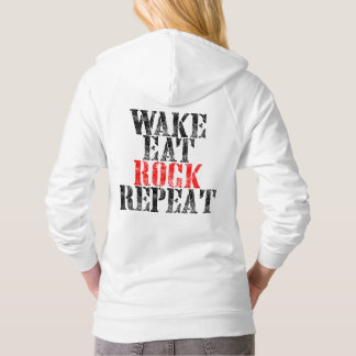 WAKE EAT ROCK REPEAT (blk) Hoodie