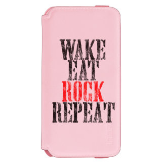 WAKE EAT ROCK REPEAT (blk) Incipio Watson™ iPhone 6 Wallet Case