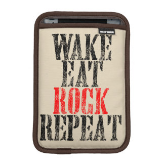 WAKE EAT ROCK REPEAT (blk) iPad Mini Sleeve
