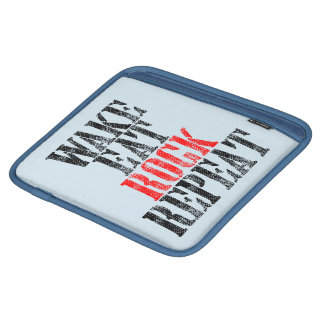 WAKE EAT ROCK REPEAT (blk) iPad Sleeve