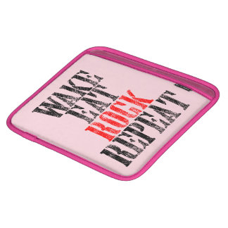 WAKE EAT ROCK REPEAT (blk) iPad Sleeve