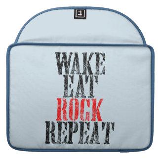 WAKE EAT ROCK REPEAT (blk) MacBook Pro Sleeves