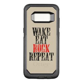 WAKE EAT ROCK REPEAT (blk) OtterBox Commuter Samsung Galaxy S8 Case