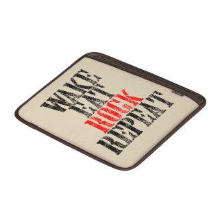WAKE EAT ROCK REPEAT (blk) Sleeve For MacBook Air