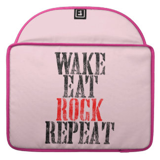 WAKE EAT ROCK REPEAT (blk) Sleeve For MacBook Pro
