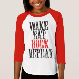 WAKE EAT ROCK REPEAT (blk) T-Shirt