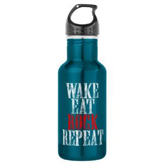 WAKE EAT ROCK REPEAT (wht) 532 Ml Water Bottle