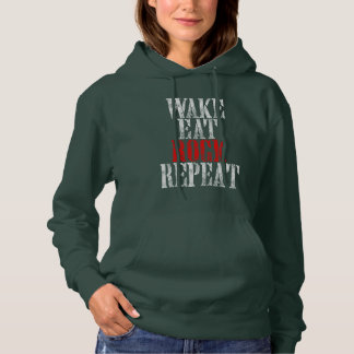 WAKE EAT ROCK REPEAT (wht) Hoodie