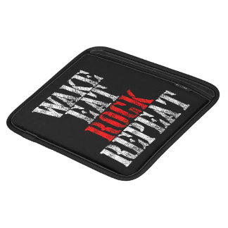 WAKE EAT ROCK REPEAT (wht) iPad Sleeve