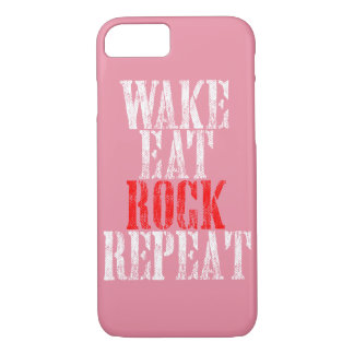 WAKE EAT ROCK REPEAT (wht) iPhone 8/7 Case