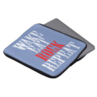 WAKE EAT ROCK REPEAT (wht) Laptop Sleeve