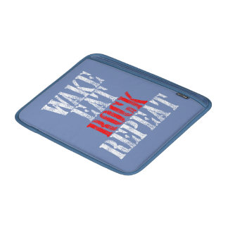 WAKE EAT ROCK REPEAT (wht) MacBook Sleeve