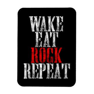 WAKE EAT ROCK REPEAT (wht) Magnet