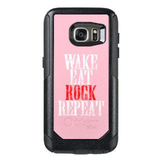 WAKE EAT ROCK REPEAT (wht) OtterBox Samsung Galaxy S7 Case