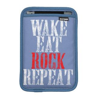 WAKE EAT ROCK REPEAT (wht) Sleeve For iPad Mini