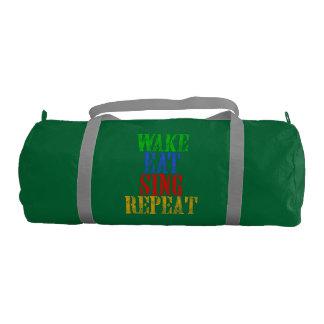Wake Eat Sing Repeat Gym Bag