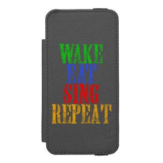 Wake Eat Sing Repeat Incipio Watson™ iPhone 5 Wallet Case