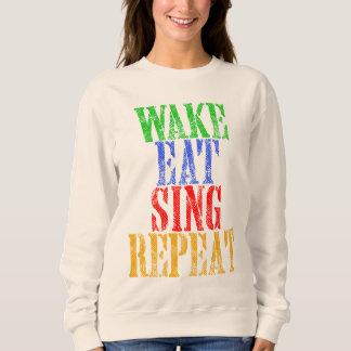 Wake Eat Sing Repeat Sweatshirt