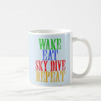WAKE EAT SKYDIVE REPEAT COFFEE MUG