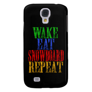 WAKE EAT SNOWBOARD REPEAT
