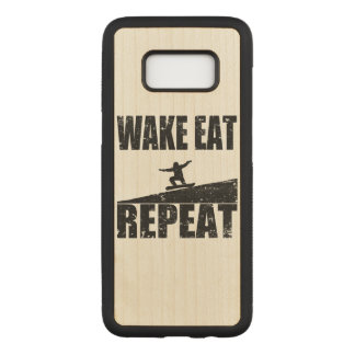 Wake Eat Snowboard Repeat #2 (blk) Carved Samsung Galaxy S8 Case