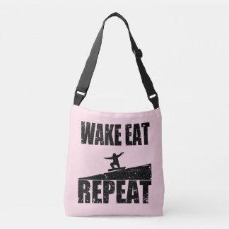Wake Eat Snowboard Repeat #2 (blk) Crossbody Bag