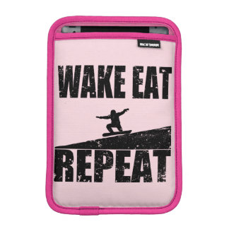 Wake Eat Snowboard Repeat #2 (blk) iPad Mini Sleeve