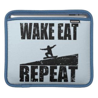 Wake Eat Snowboard Repeat #2 (blk) iPad Sleeve