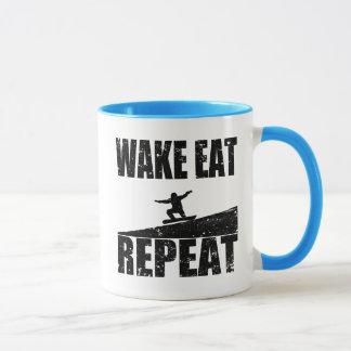 Wake Eat Snowboard Repeat #2 (blk) Mug