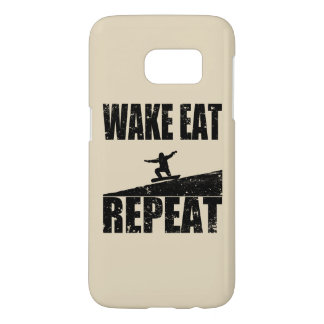 Wake Eat Snowboard Repeat #2 (blk) Samsung Galaxy S7 Case