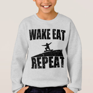 Wake Eat Snowboard Repeat #2 (blk) Sweatshirt