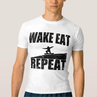 Wake Eat Snowboard Repeat #2 (blk) T-shirt
