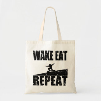 Wake Eat Snowboard Repeat #2 (blk) Tote Bag