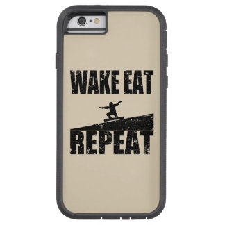 Wake Eat Snowboard Repeat #2 (blk) Tough Xtreme iPhone 6 Case