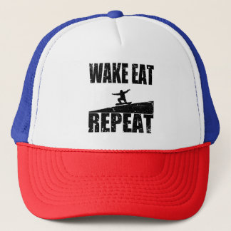 Wake Eat Snowboard Repeat #2 (blk) Trucker Hat