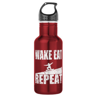 Wake Eat Snowboard Repeat #2 (wht) 532 Ml Water Bottle