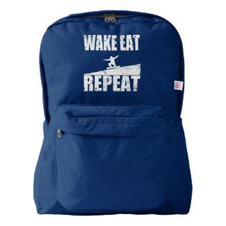 Wake Eat Snowboard Repeat #2 (wht) Backpack