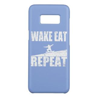 Wake Eat Snowboard Repeat #2 (wht) Case-Mate Samsung Galaxy S8 Case