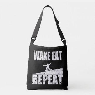 Wake Eat Snowboard Repeat #2 (wht) Crossbody Bag