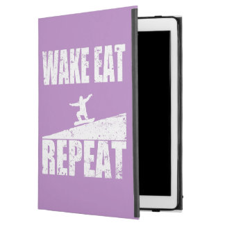 "Wake Eat Snowboard Repeat #2 (wht) iPad Pro 12.9"" Case"