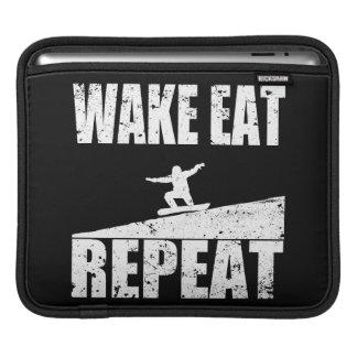 Wake Eat Snowboard Repeat #2 (wht) iPad Sleeve
