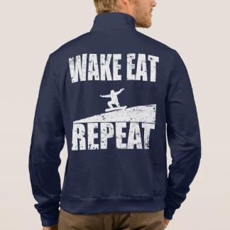 Wake Eat Snowboard Repeat #2 (wht) Jacket