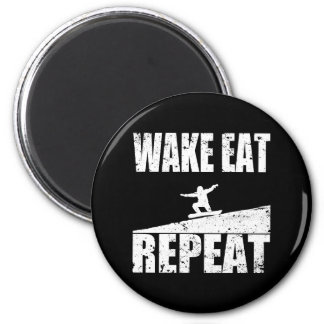 Wake Eat Snowboard Repeat #2 (wht) Magnet