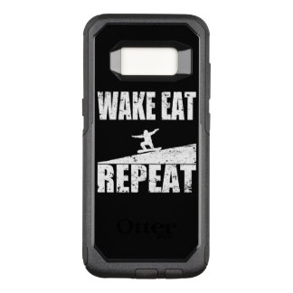 Wake Eat Snowboard Repeat #2 (wht) OtterBox Commuter Samsung Galaxy S8 Case