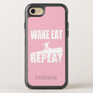 Wake Eat Snowboard Repeat #2 (wht) OtterBox Symmetry iPhone 8/7 Case