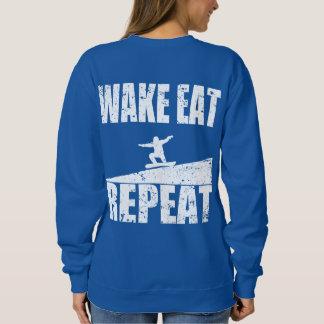 Wake Eat Snowboard Repeat #2 (wht) Sweatshirt