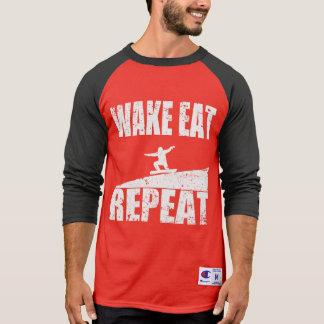 Wake Eat Snowboard Repeat #2 (wht) T-Shirt