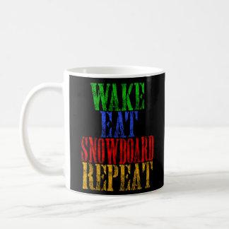 WAKE EAT SNOWBOARD REPEAT COFFEE MUG