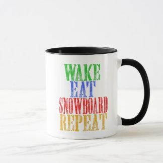 WAKE EAT SNOWBOARD REPEAT MUG
