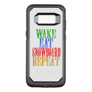 WAKE EAT SNOWBOARD REPEAT OtterBox COMMUTER SAMSUNG GALAXY S8 CASE